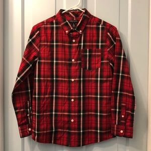French Toast long sleeve shirt red black sz 14